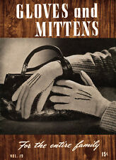 Bear Brand Special #19 c.1944 - Vintage Knitting Gloves & Mittens for the Family
