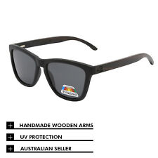 0e26e56027 Polarised Sunglasses Bamboo Wooden Frame Smoky Black Lenses