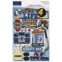 Cardstock Stickers Hockey For Life 790568116465
