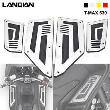 Sliver Moto Rider Footboard Footpeg Footrest Step Pad For YAMAHA TMAX530 T-MAX