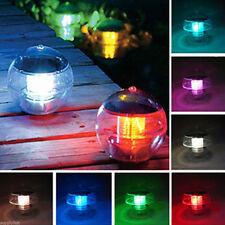 Outdoor Solar Color Changing LED Floating Lights Path Landscape Pond Pool Lamp
