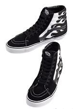 Vans SK8-Hi (Flame) Black White Skate Shoes Men's Size 9 New NIB Fast ⭐️