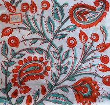 Hand Block Print  Running Sanganeri Pure 100% Cotton Fabric 3 Yard Indian Red