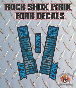 Rockshox Lyrik 2018 Style Fork Sticker Decal Graphics Enduro, DH, Blue Camo