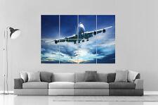 Semplice Aereo Boeing 747 Compagnie aeree Da parete Poster Grande formato A0