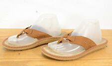 8018894a2652ca Patagonia Womens Sz 10 Tan Leather Summer Comfort Thong Flip Flop Sandals