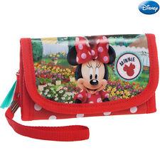Portafoglio Portatessere Portamonete con Maniglia Bambina Minnie Mouse Disney