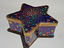 Star Shaped Attractive Shiny Used Empty Hot Chocolate Tin FREE UK P&P