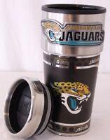 Jacksonville Jaguars NFL 16oz. Stainless Steel Travel Coffee Mug Cup Tumbler