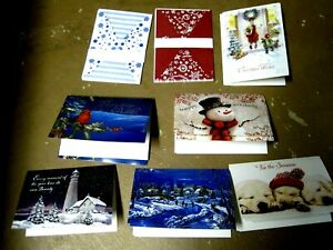 NATURE INSPIRED CHRISTMAS GREETING CARD ASST: 12 CARDS w coordinating envelopes