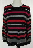 GERRY WEBER Ringelpulli Pullover Damenpullover Pulli schwarz weiß rot grau Gr.42