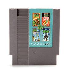 4 en 1 8 bits 72 Pin Juego Cartucho Teenage Mutant Ninja Turtles para NES Nintendo