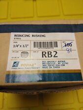 "Topaz RB2 3/4"" Steel Reducing Bushings  QTY. 100   NEW IN BOX"