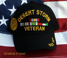 OPERATION DESERT STORM VETERAN OIF HAT PIN UP US ARMY MARINES NAVY AIR FORCE WOW