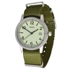 Graue runde Armbanduhren aus Textilgewebe