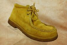 Wolverine Yellow Suede Leather Moc Toe Lace Up Ankle Chukka Boots Mens Size 9.5W
