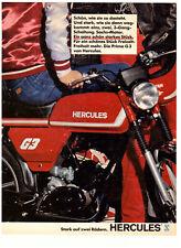 HERCULES PRIMA G3 -- alte Annonce - historische Reklame - vintage advert
