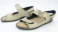 Ecco Womens Sz 39 Leather Walking Summer Strap Comfort Sandals