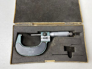 "MITUTOYO 1-2"" Digital Micrometer ~ .0001"" Grads ~ Carbide Tip, Friction 193-212"