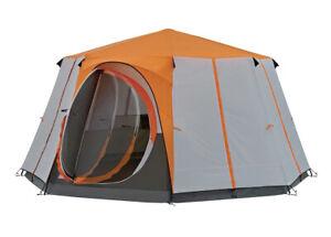 Coleman Tent Octagon, 6 Man Festival Dome Tent, 6 taille unique, Orange