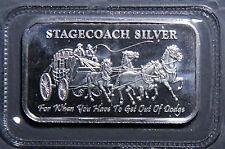 STAGECOACH FRACTIONAL 4 x 1/4  BAR NWT SEALED FINE SILVER .999 1.0 t.o. INV668