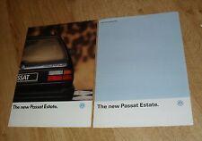 Volkswagen VW Passat Estate Brochure 1989 1.8 CL GL GT 2.0 GT 16v CL TD