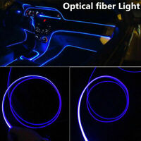 4M Car Interior Decoration Lights Atmosphere Lamp Strips Blue Fiber Optic Cable