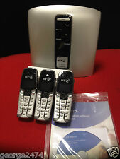 BT CORDLESS TRIPLE DECT TELEPHONE SYSTEM small home INC 3 phones