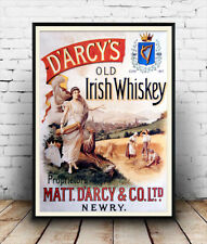 Darcys , Vintage Irish Whiskey advert poster reproduction.