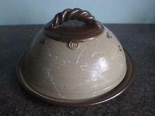 Studio Pottery - Elsa Benattar - Large Cheese Dish - Dragonfly Design - Signed