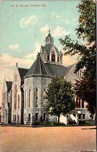 Postcard M.E. Church in Portland, Indiana~138141