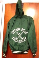 OTTAWA HILLS med pullover jacket Green Bears field hockey OHIO hood High School