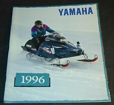 1996 YAMAHA SNOWMOBILE SALES BROCHURE 36 PAGES VERY NICE     (256)