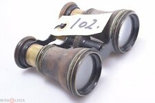 French,English? C.1890 Antique All Brass Small Size Binoculars Double Telescope