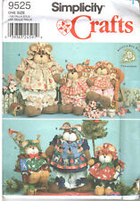 SIMPLICITY Crafts 9525 Decorative BEARS & Clothes in Two Sizes UNCUT SHIPS FREE