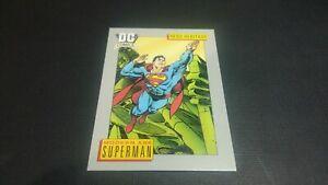 IMPEL MARKETING 1991 DC COMICS MODERN AGE SUPERMAN #18 HERO HERITAGE (VG)