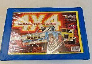 Vtg 4x4 Collector's Case 10 Car Stompers Rough Riders Case 1985 TARA