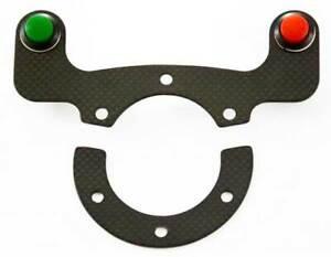 Carbonhalter für zwei Schaltknöpfe, Adapterplatte, Sportlenkrad, Lenkrad, Carbon