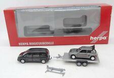 30988 HERPA / COFFRET CLASSIC CAR FRANCE / PEUGOT 806 + REMORQUE 205 T16 1/87