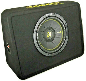 """Kicker CompC 44TCWC104 Loaded 10"""" 4 ohm Ported Thin Profile Subwoofer Enclosure"""