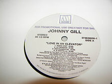 "JOHNNY GILL LOVE IN AN ELEVATOR / SO GENTLE 12"" Single NM Motown 1997 PROMO"