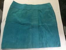 NWT Newport News-Turquoise-Aqua-Leather Suede Pencil Skirt Size 24W-EB-111