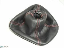 Nuova Lancia Ypsilon cuffia cambio in pelle nera e cuciture ross