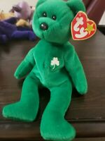 ty beanie babies extremely rare Erin with tag errors