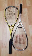 Dunlop Unisex Blackstorm Surge Ti Squash Racquet Graphite 140 G + Wilson N code