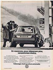 PUBLICITE ADVERTISING 114 1977 VOLKSWAGEN   la Golf 6cv