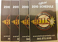 2010 BELLINGHAM BELLS 4 SCHEDULE LOT WEST COAST LEAGUE WASHINGTON NM/MT 00108