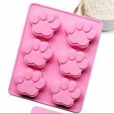 1x Cat Paw Print Silicone Bakeware Mould Chocolate Mold Cookie Candy Soap Resin