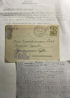 1942 Pskov Germany Occupation Postcard Cover Local German Post Office