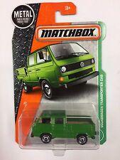 2017 Matchbox #95 VOLKSWAGEN TRANSPORTER CAB Green VW Empty Bed (T111)